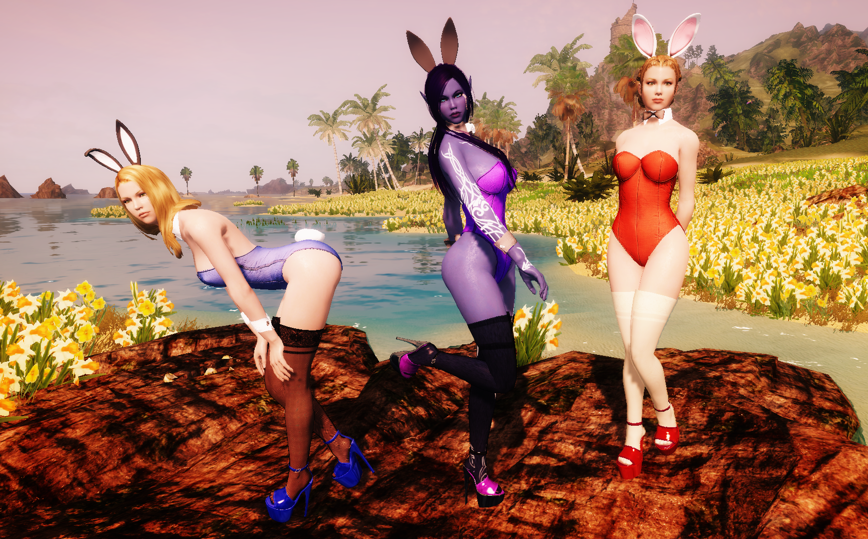 Nadriel's Bunny Girl outfit for CBBE and UUNP HDT and non-HDT Rus