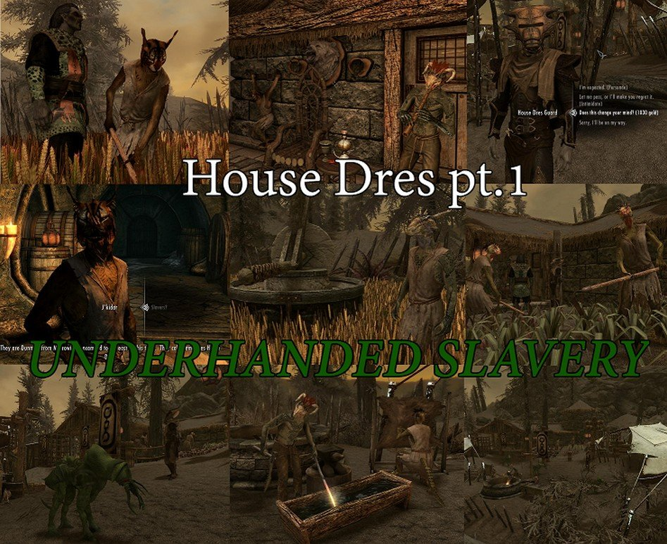 House Dres Part 1 - Underhanded Slavery (Mihail Immersive Add-ons- Solstheim- Morrowind) Rus