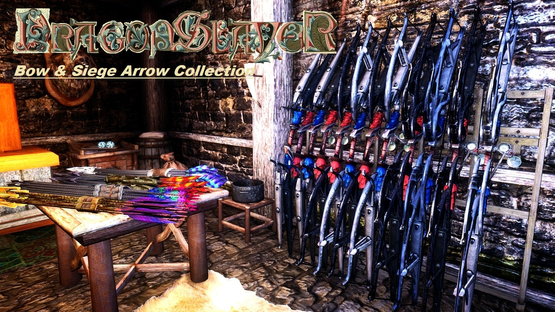 Dragonslayer Bow and Siege Arrows SSE