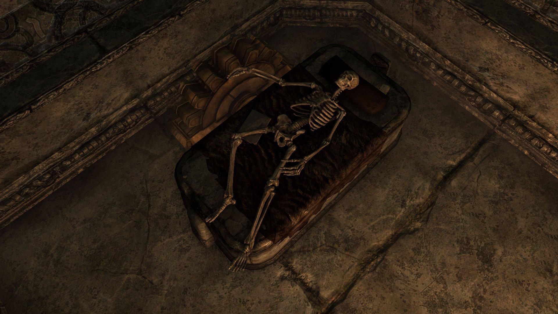 SkyrimSE Из жизни скелетов. Зачитался