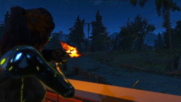 Выстрелы в ночи..