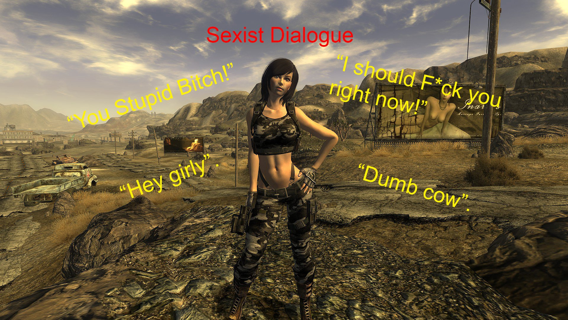 Sexout: Sexist Dialogue w/ Tryout Add-ons (WIP) Rus