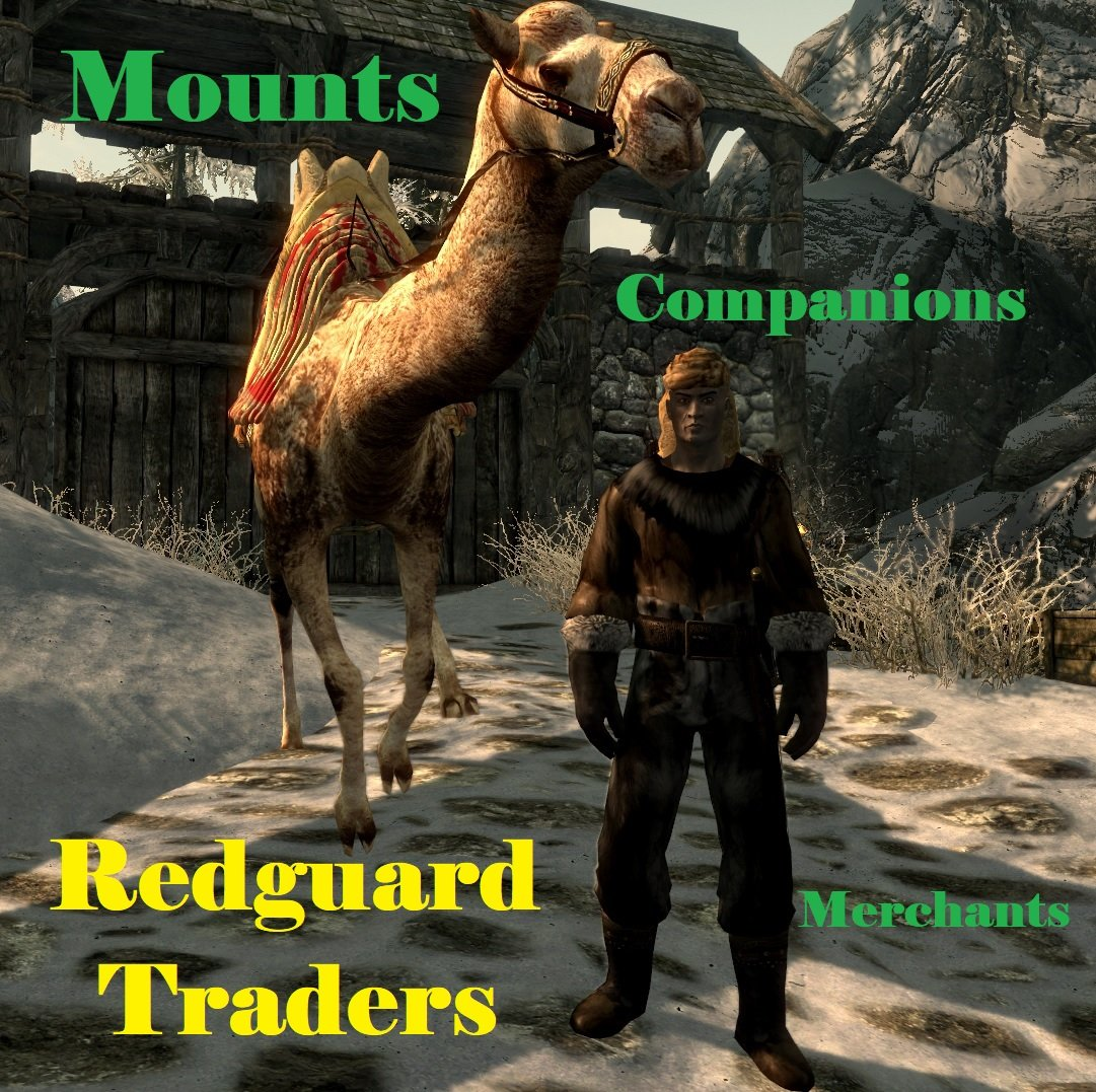 Redguard Traders with Mounts and Followers Rus