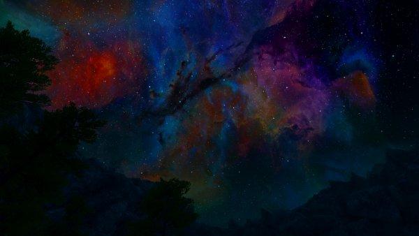 Ночное небо в Эндерал.