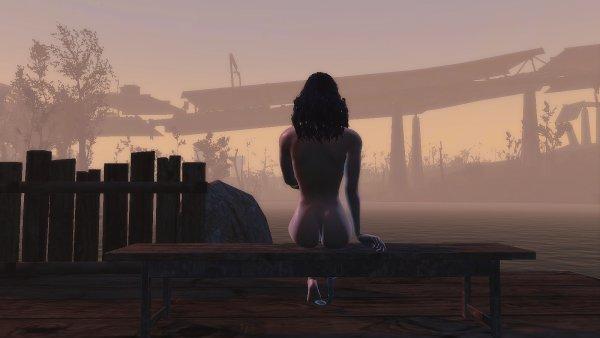 Ева встречает рассвет на набережной Альянса