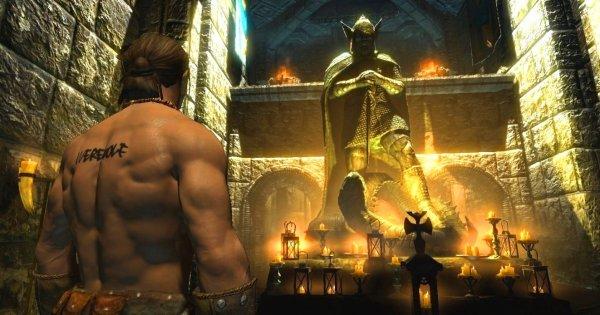 Фалос, в храме Талоса. (из давних скринов)