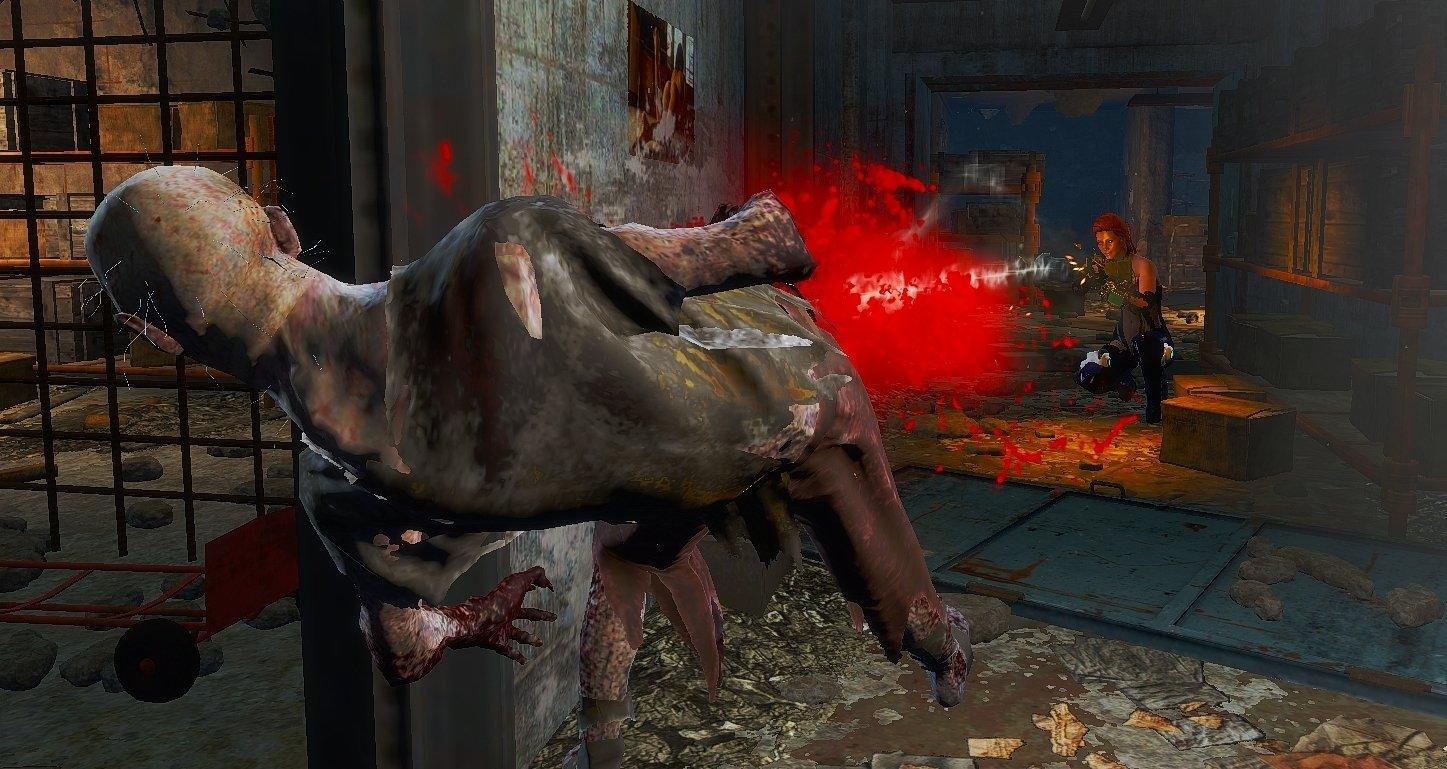 Мулл отстреливает зомбаков..