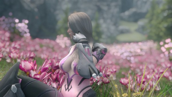 Отдых на поляне, среди цветов