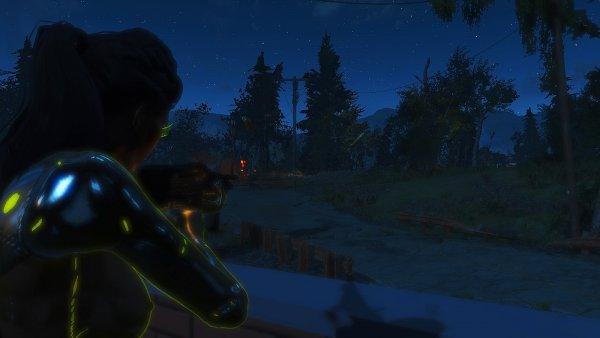 Пристреливаю пулемёт. Fallout4