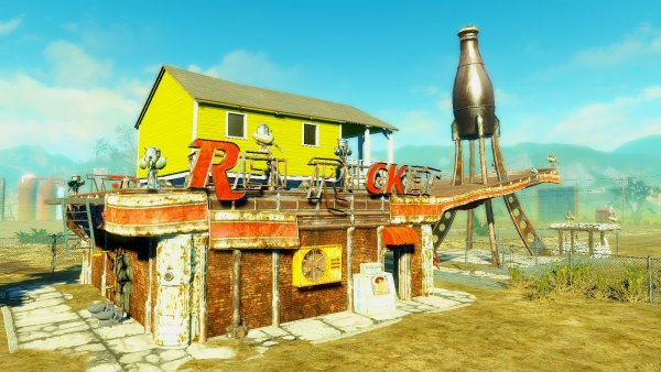 Красная ракета в Ядер-мире. Fallout4