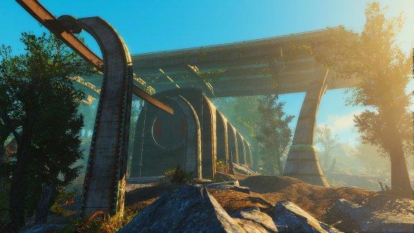 Вход в Ядер-мир метро монорельса. Fallout4