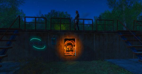 По ночам в Сэнкчуари бассейн открыт. Fallout4