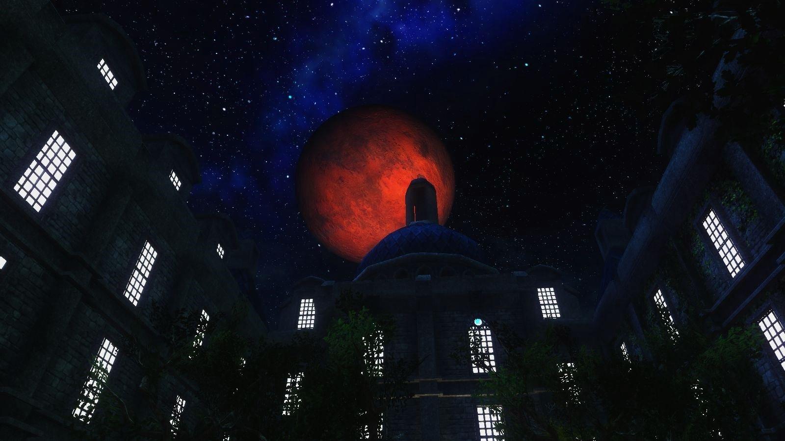 Синий дворец ночью