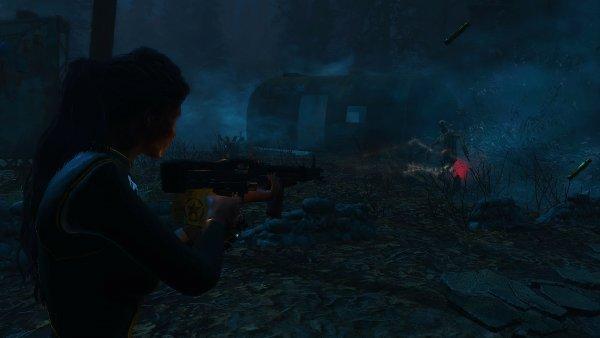 Ночной отстрел гулей. Fallout4