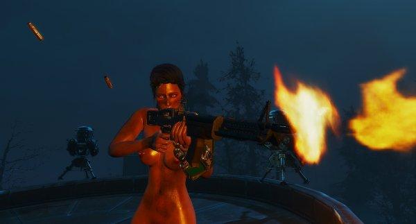 Ночной отстрел зобаков. Fallout4