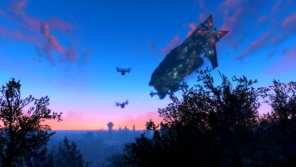 Летающий баклажан Братства Стали.  Fallout-4