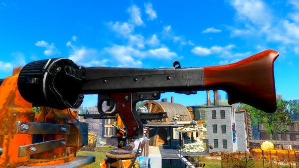 Ставила мод на пулемёт MG42.. Fallout-4