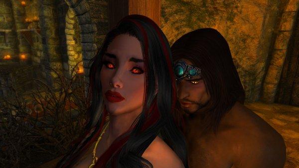 Вампирша неожидала гостя..  SkyrimSE