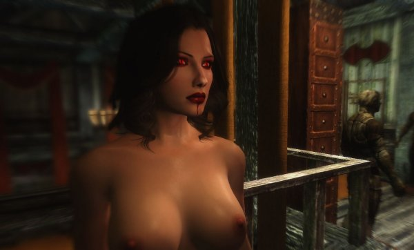 Скрин из 19 сборки Сексрима. SkyrimLE