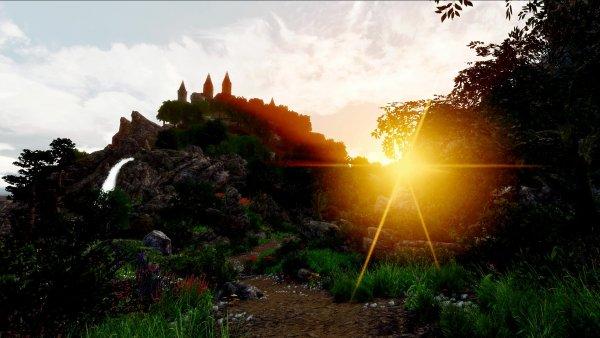 Вид на замок Златоброд