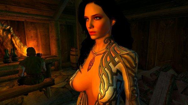 Йеннифер в таверне.. SkyrimLE(4.0 сборка)