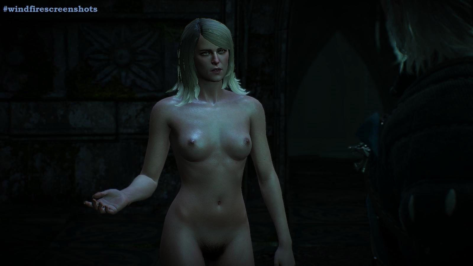 Кейра общается с Геральтом.. witcher3