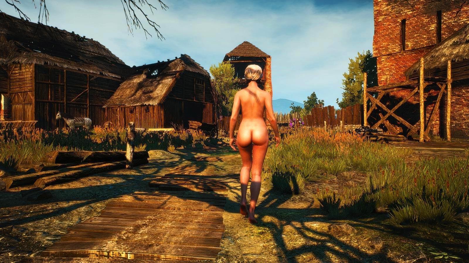 Мир witcher3 беден, и не у всех есть одежда..