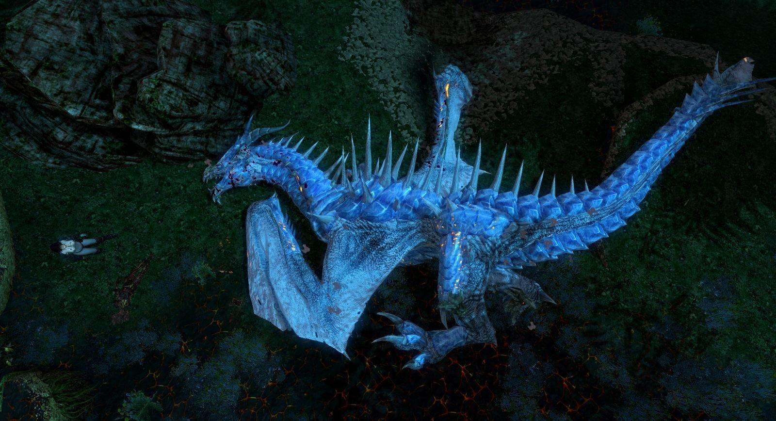 Ледяной дракон - самый легкий противник из драконов