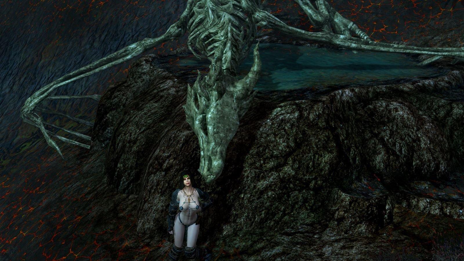 Нора селфиться с побеждённым драконом..
