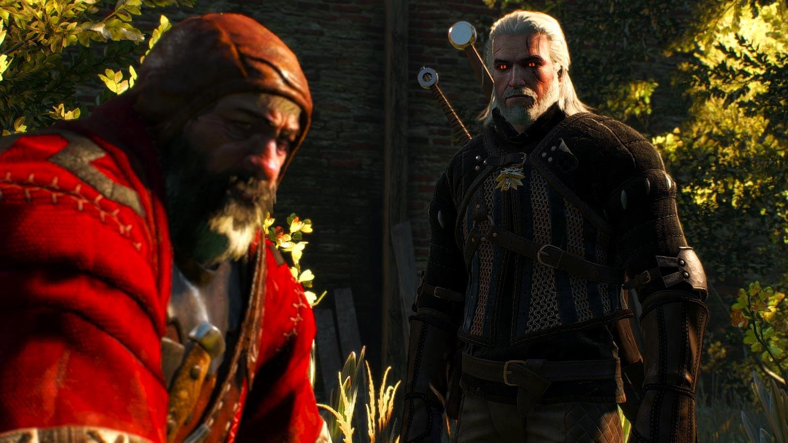 Кровавый Барон и Геральт.. witcher3