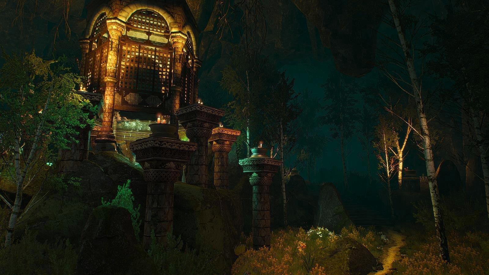 Купель Кейры в волшебном месте... Witcher3