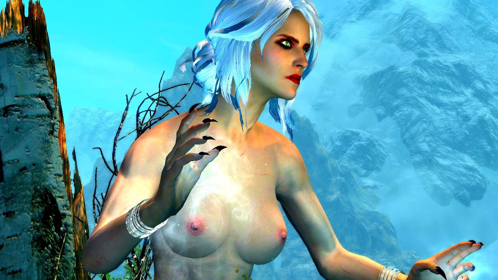 """А волосы """"белой ведьмы"""" цвета снежных гор.."""