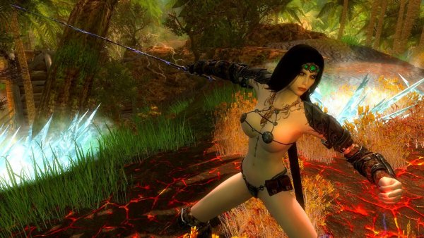 Нора в бою с каргой.. SkyrimLE (тропики 4.0)