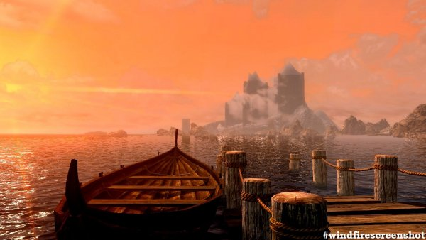 Тихая гавань. Вдали замок Волкихар. (сборка 6.0)