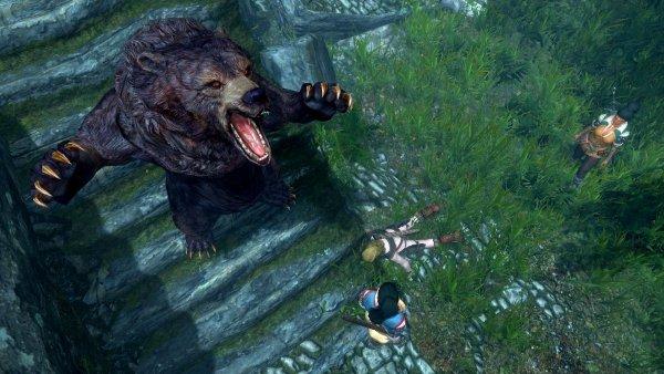 Медведь помог справиться с бандитами..