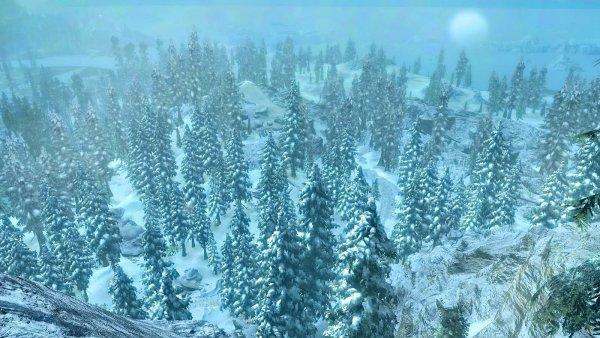 Зимняя часть Скайрима, близкая к Морю Ветров