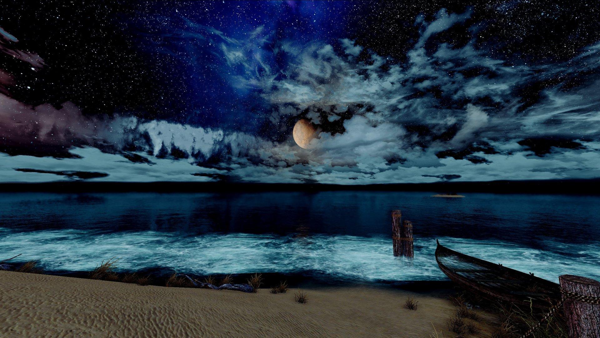 синее море... синее небо....