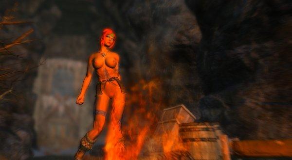Шэйла у костра... Enderal (сборка 2.0)