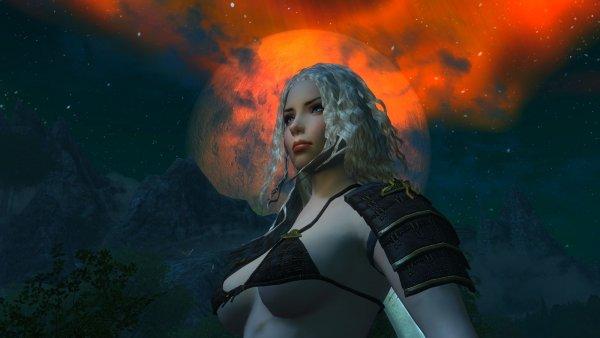 Алиса на фоне ночного неба.. Enderal (СБОРКА 3.0)