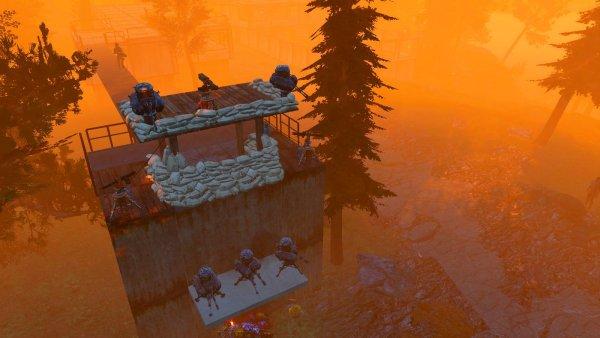 Охранные вышки вынесены за поселение.. Fallout-4