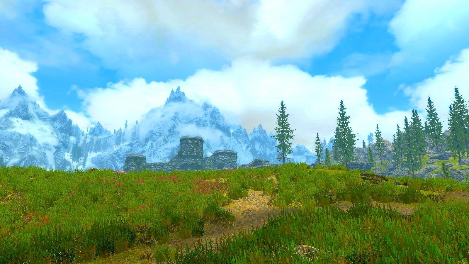 Скайримский пейзаж.. SkyrimSE (сборка 6.0)