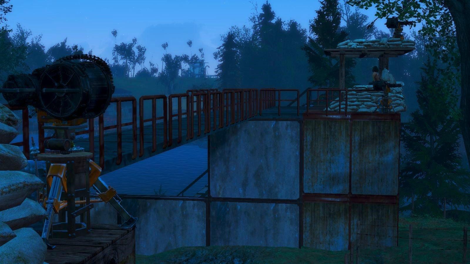 Построила ещё охранную вышку.. Fallout-4
