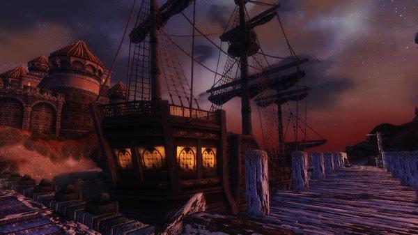 пристань Анвила, ночью