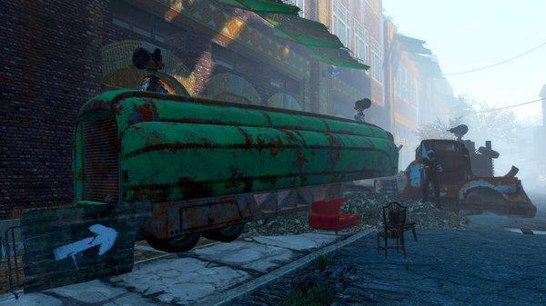 Поселение в здании за грузовиком.. Fallout-4
