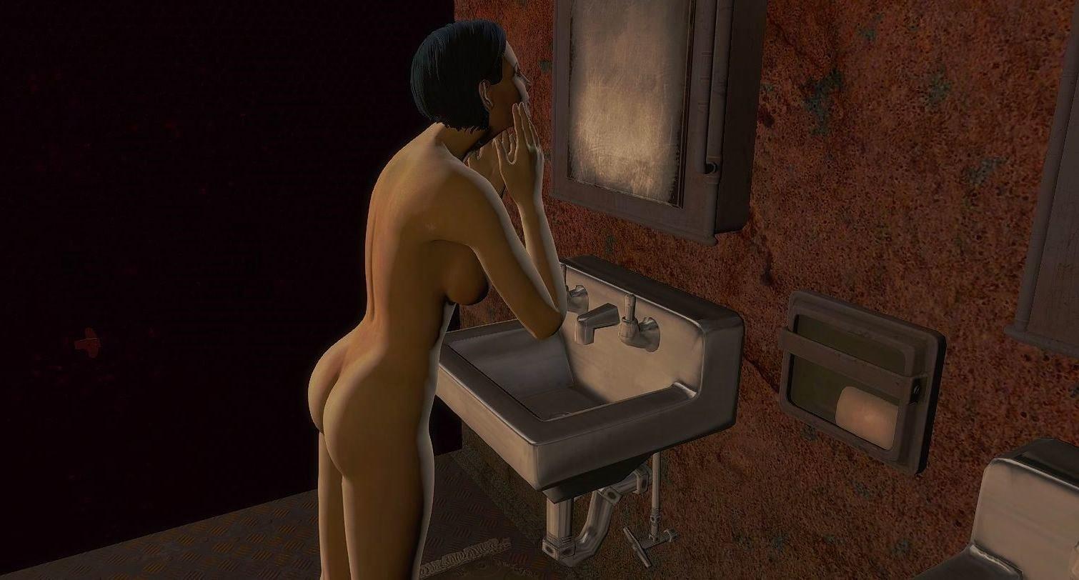 В женской комнате.. Fallout-4 (сборка 6.0)