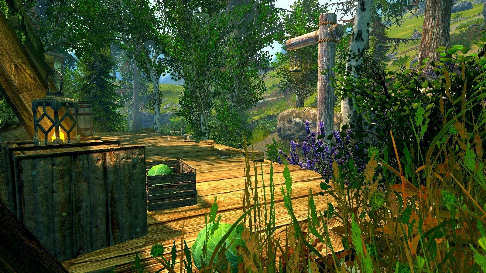 Сельский пейзаж.. SkyrimSE (сборка 6.0 ЛЕТО)