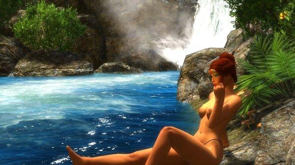 Шэйла близ водопада.. Enderal (сборка 3.0)
