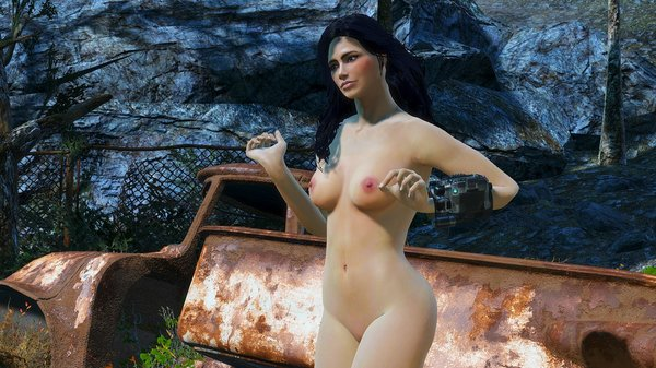 Алиса рядом с металоломом ;) Fallout-4 (сборка 6.0)