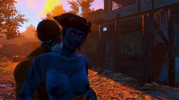 Объятия на заходе солнца.. Fallout-4