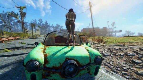 Алиса на капоте.. Fallout-4 (сборка 6.0)